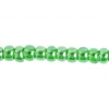 Seedbead 2/0 Transparent Bright Green Lustered